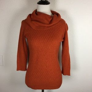 The Limited burnt orange cowl neck sweater XS